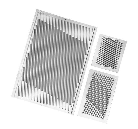 Highly efficient high temperature heat exchanger plates